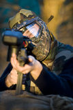 Paintball commando Stock Photo