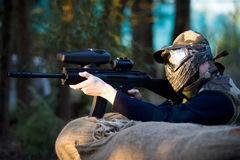Paintball commando Royalty Free Stock Photography