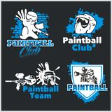 Paintball emblem and logo - vector set Royalty Free Stock Photography