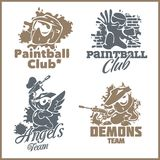 Paintball emblem and logo - vinyl-ready vector set Royalty Free Stock Photos