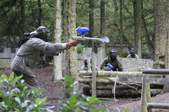 Paintball et lasers Photo stock