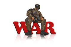 Paintball fighter 3 Royalty Free Stock Photos