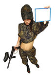 Paintball fighter 4 Royalty Free Stock Photos