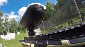 Paintball first-person view stock footage