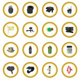 Paintball game cartoon icon circle Stock Image
