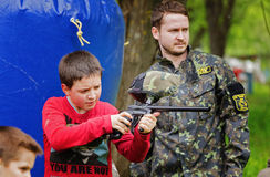 Paintball game. Royalty Free Stock Photos