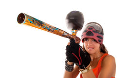 Paintball girl Stock Image