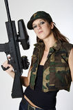 Paintball girl Royalty Free Stock Image