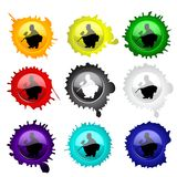 Paintball glass buttons for your design Royalty Free Stock Photos