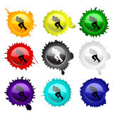 Paintball glass buttons for your design Royalty Free Stock Photography