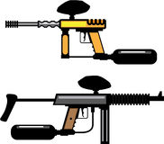 Paintball Gun. Illustration clip-art eps Royalty Free Stock Photography