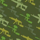 Paintball guns  seamless pattern. Paintball guns Silhouette. seamless pattern Stock Photos