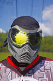 Paintball. Head shot Stock Photos