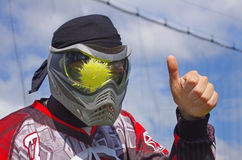 Paintball. Head shot Royalty Free Stock Photo