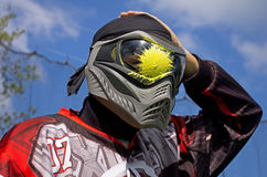 Paintball. Head shot Stock Photography