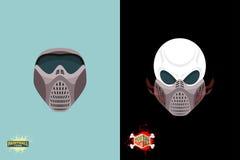Paintball helmet and mask. scary skull with smoke. Mortal paintball Stock Image