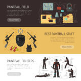 Paintball Horizontal Banners Stock Photo