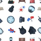 Paintball icons in vector Royalty Free Stock Images