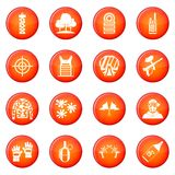 Paintball icons vector set Royalty Free Stock Photo