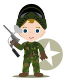 Paintball kid. With all game suit Royalty Free Stock Photos