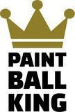 Paintball King. Vector sports icon Stock Photography