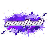 Paintball lettering - icon - Splatter colorful banner Royalty Free Stock Photo