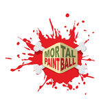 Paintball logo. Emblem for military extreme sports game. Royalty Free Stock Image