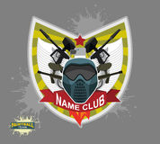 Paintball logo emblem. paintball guns and Wings. Mortal Heraldry Royalty Free Stock Photography