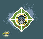 Paintball logo.  paintball guns. Stock Photography