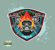 Paintball logo.  paintball guns.  paintball mask Royalty Free Stock Images