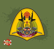 Paintball logo. shield with wings. Emblem  paintbal Stock Images