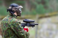 Paintball man Stock Photography