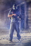 Paintball  man player Royalty Free Stock Photography