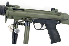 Paintball Marker (Gun). The middle (body) of a paintball gun Stock Photography