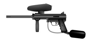 Paintball marker isolated Stock Image