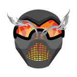Paintball mask. Protective helmet Scary. Sports respirator futu Stock Photography