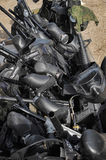 Paintball masks and markers Royalty Free Stock Image