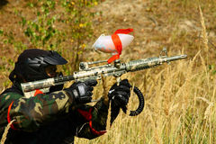 Paintball men Stock Images