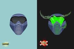 Paintball  Mortal mask emblem Stock Photo