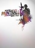Paintball- oder airsofthintergrund Lizenzfreies Stockbild