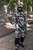 Paintball player stock images