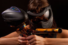 Paintball player Stock Photos