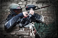 Paintball player Royalty Free Stock Images