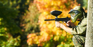 Free Paintball Player Royalty Free Stock Image - 21268366