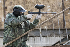 Paintball player Stock Photography