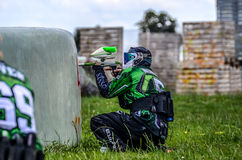 Paintball player Royalty Free Stock Image