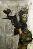 Paintball player Stock Image