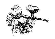 Paintball player  -  Stock Illustration Royalty Free Stock Image