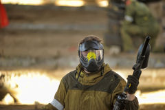 Paintball players Royalty Free Stock Photography