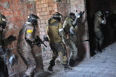 Paintball players Royalty Free Stock Images